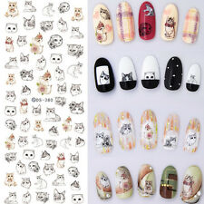 1 Sheet Nail Art Water Transfer Decal Manicure Sticker Lovely Cat Pattern DIY