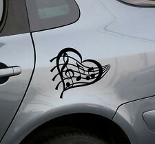 Music Heart Vinyl Decal Sticker For Car Window Wall Sticker Decoration For Car