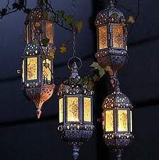 1PC Vintage Metal Hollow Candle Holder Wedding Lanterns Moroccan Hanging Candle
