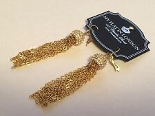 BRIGHTON MY FLAT IN LONDON NOTTING HILL GOLD TASSEL FRENCH WIRE EARRINGS NWT