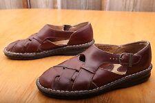 Born Brown Leather Sandals Men's Size 8 C