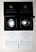 2014 P Baseball Hall of Fame Silver Dollar Proof & Unc Boxes & Coas