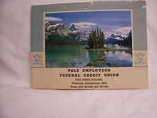 Vintage 1978 P&LE Employees Credit Union Calendar-recipes, Jasper National Park