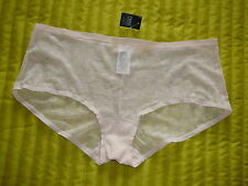 BNWT NEXT SIZE 16 PEACHY PINK SKIN TONE NUDE SHEER FLORAL LACE MESH SHORT