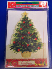 Holiday Traditions Christmas Tree Party Invitations w/Envelopes - Open House