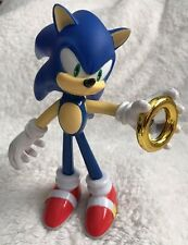 "SONIC The Hedgehog 5"" Action Figure Sega Holding Power Ring Lights Up! RARE!"