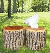 Nature Tree Ring Wood Log Slab Soft Tissue Paper Toilet Roll Holder Home Novelty