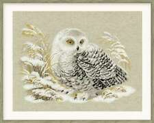Cross Stitch Kit WHITE OWL Aida RIOLIS 1241