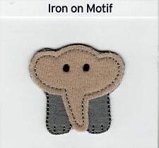 BABY ELEPHANT IRON ON APPLIQUE MOTIF PATCH, BRAND NEW