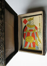 1816 Gatteaux Paris Poker Playing Cards 52/52 VERY RARE in Italian leather box
