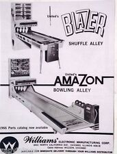 Vtg 1966 Blazer Amazon Bowling Alley Coin Operated Machine Ad / Advertisement