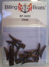 Billing Boats Accessory BF-0400 - 22mm Cleats x 6 Brown New Pack