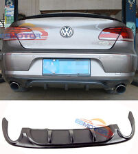 UNPAINTED R-Line Style Rear Diffuser For Volkswagen CC 4D Dual Side Single V041F