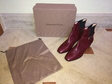 NIB $1,095 Gianvito Rossi Burgundy Leather Boots / Booties - Size 12 / 42