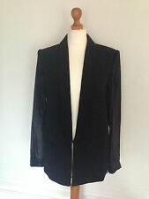 "MAJE ""Dita"" black jacket / blazer / tuxedo s EU 38 / UK 10 NEW RRP £345"