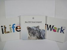 Apple Mac OS X 10.6.3 Snow Leopard iLife & iWork 09 Lot of 3 GREAT DEAL!