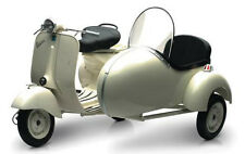 Newray 1/6 Scale 1955 Vespa Piaggio W/ Sidecar Motorcycle Scooter 48993 HUGE