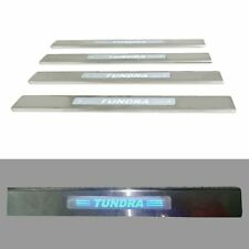 LED 4 Door Stainless Scuff Plate Door Sill Guard Trim For Toyota TUNDRA 07-15