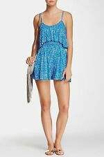 NWT $220 RACHEL PALLY TILDA PLAYSUIT ROMPER MINERAL GINGHAM PRINT BLUE S (4 6)