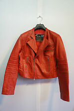 VINTAGE 786 USA MILITARY INDUSTRIES REAL LEATHER  FLYING JACKET SIZE XL /42