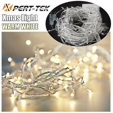 32ft 100LED Warm White String Fairy Lights Party Christmas Decor Outdoor Indoor