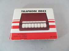 Vintage Automatic Push-N-Open Piano Telephone Index NOS