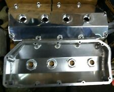 POLISHED ALUMINUM VALVE COVERS FOR KEITH BLACK 426 HEMI BAE TFX FABRICATED