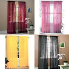 Romantic Scarf Sheer Voile Door Window Curtain Drape Panel or Scarf Assorted New