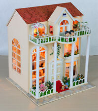 DIY Wooden Dollshouse Miniature Kit w/ LED Lights - Dream House