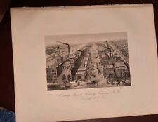 Oswego N.Y. Kingsford Starch Factory engraving downtown print 1876