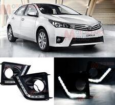 Toyota Corolla 2013-15 DRL Driving Daytime Running LED Light Front Fog Light