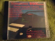 Simmons SDX Drum library Audio Sampling CD Loops And Samples Read Description