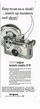 PUBLICITE   1959   USA   ARGUS  appareil photo  MATCH MATIC  C- 3