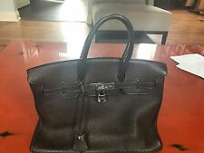 Authentic Hermes Birkin 35cm in Brown Togo Leather with Silver Palladium HW