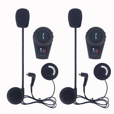 2pcs 500m FDC BT Bluetooth Intercom Motorcycle Helmet Communication Headset+FM
