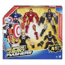 Hasbro MARVEL super hero mashers pack 5 captain america, panthère noire, iron man