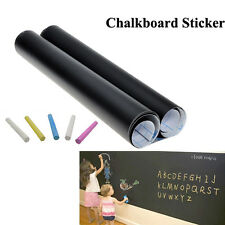 2 Rolls Large Chalkboard Wallpaper Decal Wall Sticker Blackboard 45cm x 200cm