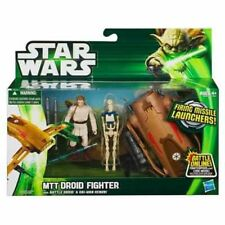 Star Wars MTT Droid Fighter + Battle Droid & Obi-wan Kenobi figure new