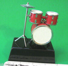 DRUM set -   miniature mounted on base - stand