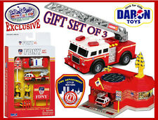 Daron FDNY Mighty Vehicle Fire Truck & Playset Deluxe Gift Set - NEW