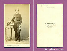 CDV PENABERT À PARIS : MILITAIRE OFFICIER DE LA MARINE SECOND EMPIRE Réf D 64