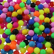 100 Pcs 10mm Candy Cute Mix Color Round Silicone Loose Beads
