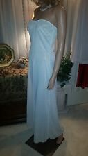 Vtg Sydney Bush ILGWU Nylon Strapless Full Slip Gown~Nightgown~Bridal White~S/M