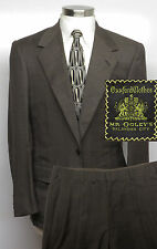 OXXFORD CLOTHES Suit 40R 40 Brown Glen Plaid -SUPER 110's- Pants W32 x L30 $4895