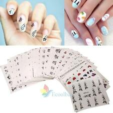 50 Sheets Mixed Flower Water Transfer Nail Stickers Decals Art Tips Decoration A
