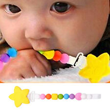 Baby Infant Dummy Pacifier Soother Nipple Teething Beads Chain Clip Holder