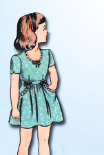 1940s Vintage Hollywood Sewing Pattern 1534 WWII Toddler Girls Dress Size 6 24B