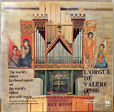 GUY BOVET: L'Orgue de Valere (1390)-M1974LP FRENCH IMP World's Oldest Organ