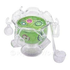 Maison De Poupées Miniature Vert Coup De Poing Dans Un Verre Bol À Punch