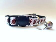 Football! Breakaway Safety Kitty Cat Collar with removable bell!